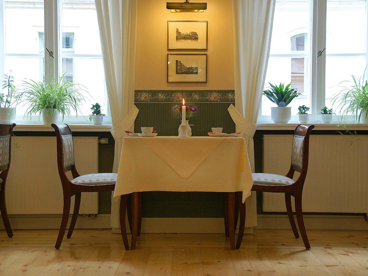 Frühstücksraum entspannt für 2
